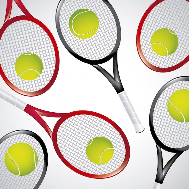 Tennis rackets over white background vector illustration Premium Vector