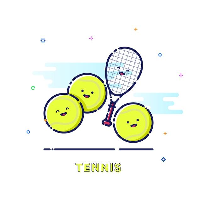 Tennis sport illustration Premium Vector