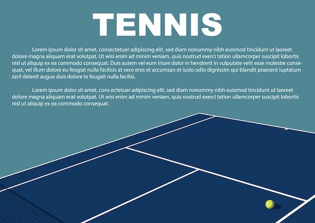Tennis tournament poster design. vector template. Premium Vector