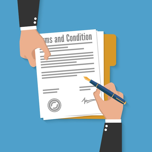 Premium Vector   Terms and condition document