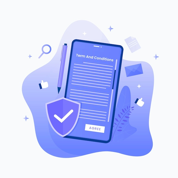 Terms and conditions concept. illustration Premium Vector
