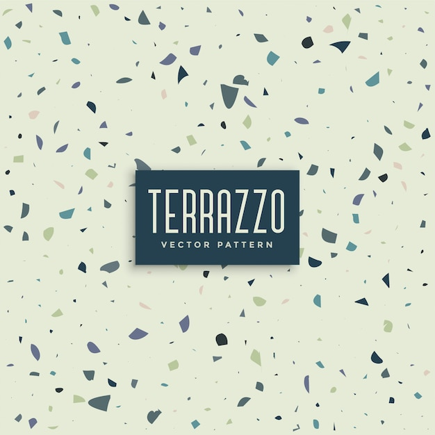 Terrazzo abstract pattern background design Free Vector