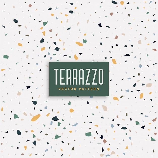 Terrazzo floor texture pattern background Free Vector