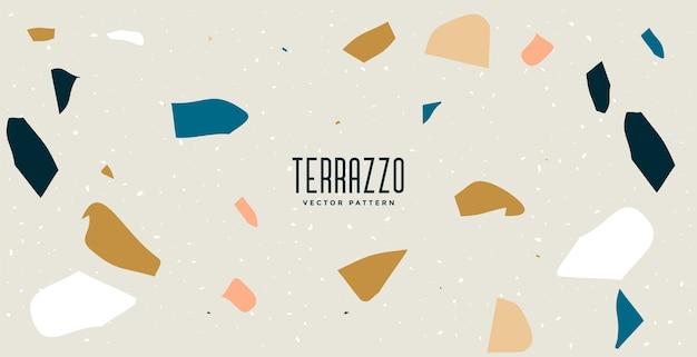Terrazzo floor tiles pattern texture background design Free Vector