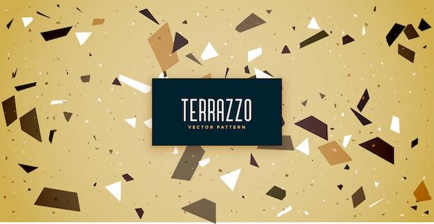 Terrazzo напольная плитка узор текстуры фона Бесплатные векторы