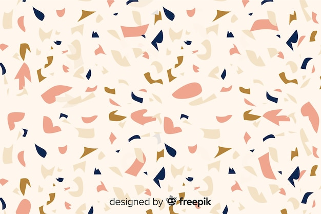 Terrazzo flooring background Free Vector