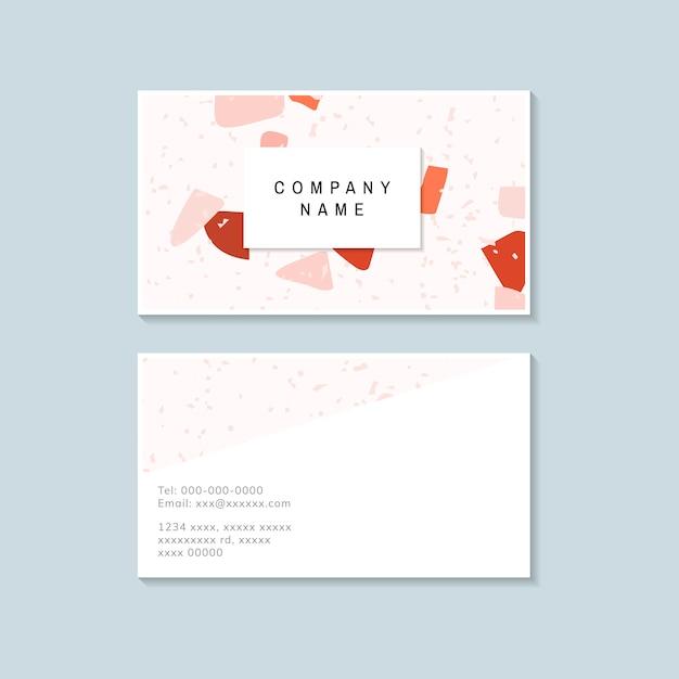 Красочный вектор terrazzo визитная карточка Бесплатные векторы