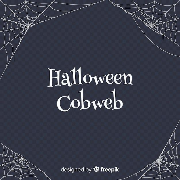 Terrific cobweb halloween background Free Vector