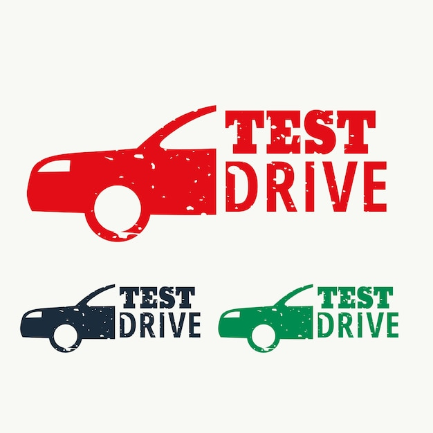 Test Drive Sign Stamp Vector