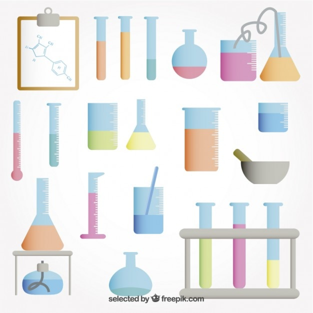 Test tubes collection Free Vector