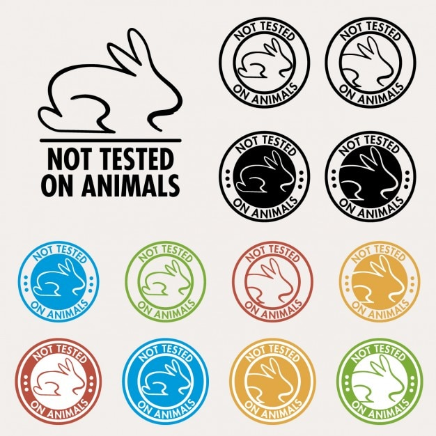 Not tested on animals seals Free Vector