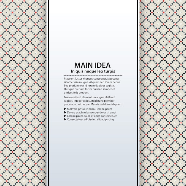 Text background with colorful pattern. Useful for presentations, advertising and web design. Premium Vector