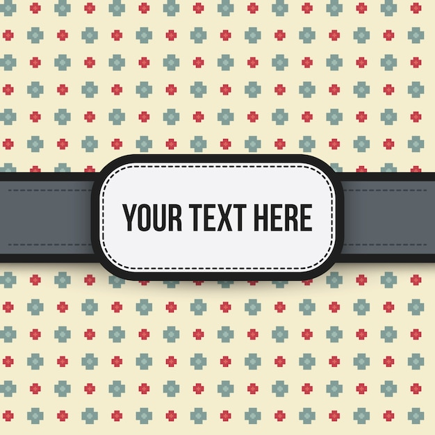 Text background with colorful pixelated pattern. Useful for presentations, advertising. Premium Vector