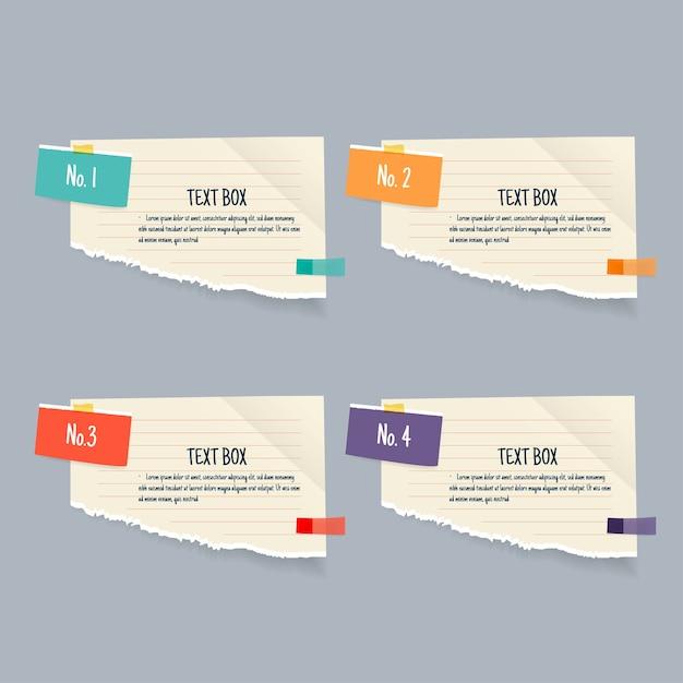 Дизайн текстового поля с заметками. Premium векторы