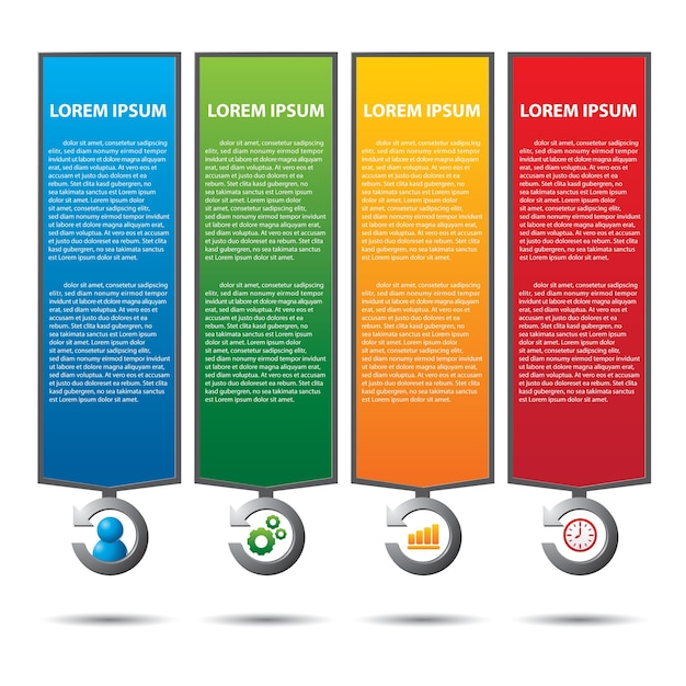 Text Box With Business Strategy Diagram Vector