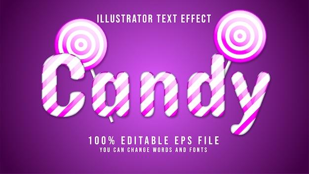 Text candy editable Premium Vector