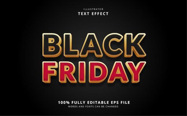 Текстовый эффект черная пятница Premium векторы