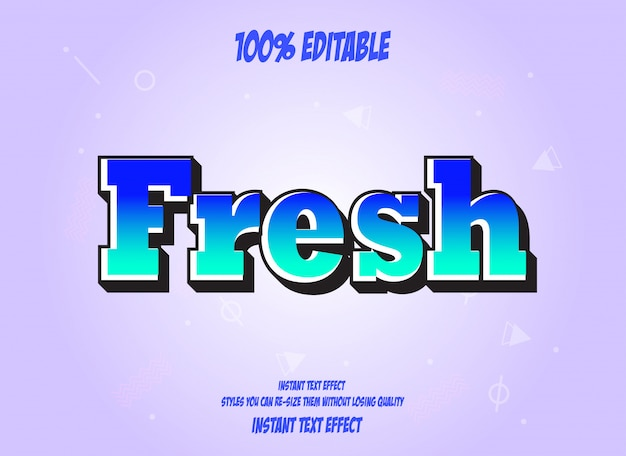 Text effect for cool futuristic effect, editable text Premium Vector