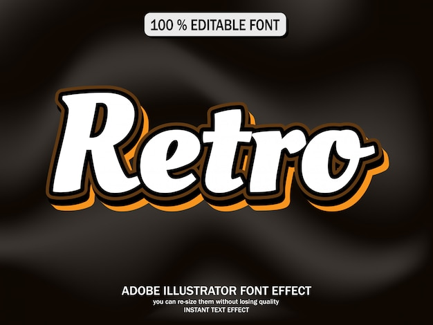 Text effect for cool futuristic effect Vector | Premium Download