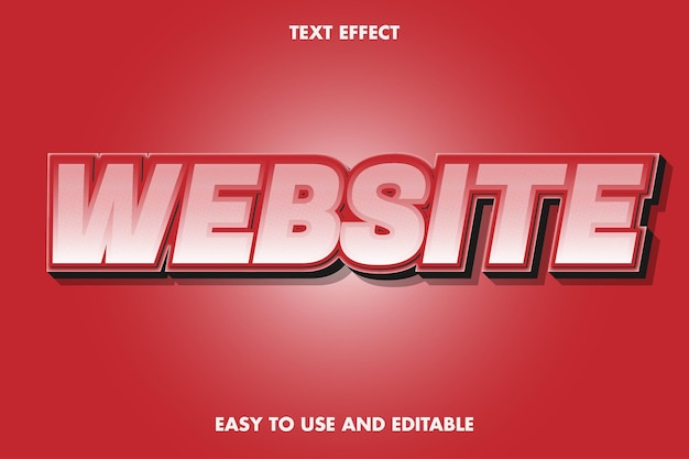 텍스트 효과-웹 사이트. 프리미엄 벡터