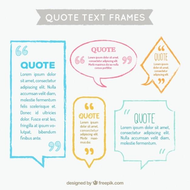 Text speech bubble collection Free Vector