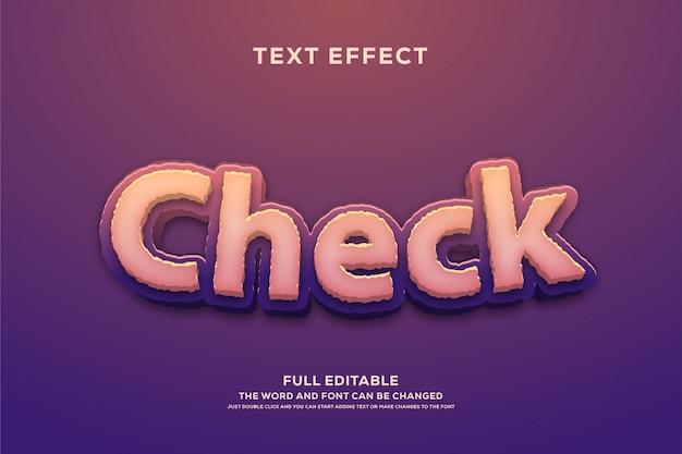 Текстовый стиль, редактируемый эффект шрифта Premium векторы