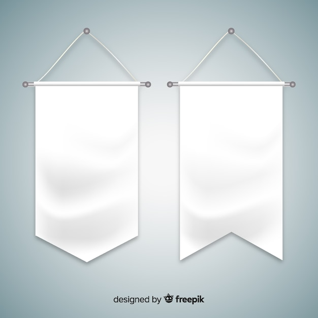 Textile pennant Free Vector