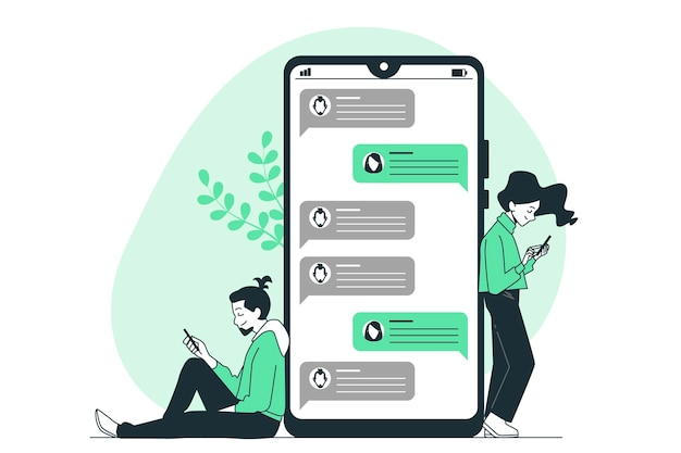 Texting concept illustration Free Vector