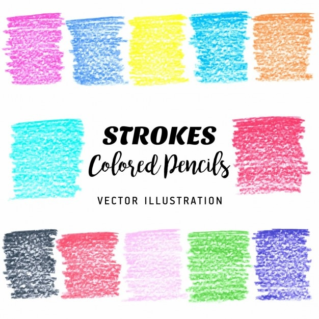 Texture of colored pencils Free Vector