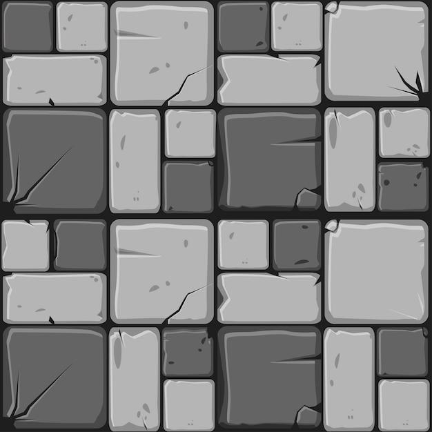 Texture of gray stone tiles Premium Vector