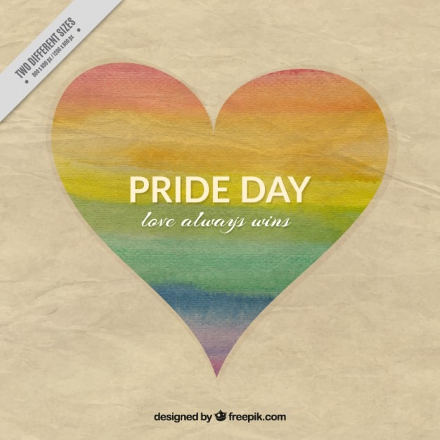 Texture paper with pride day heart