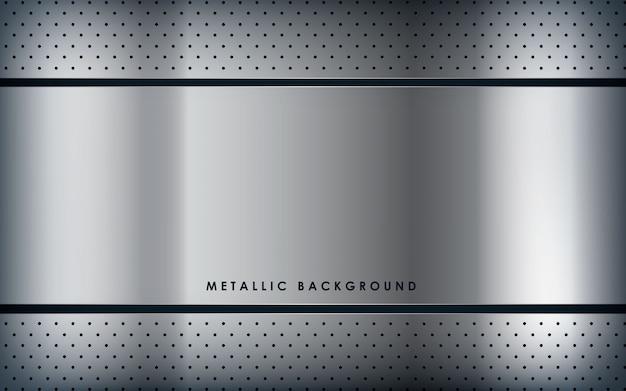 Texture white metal background Premium Vector