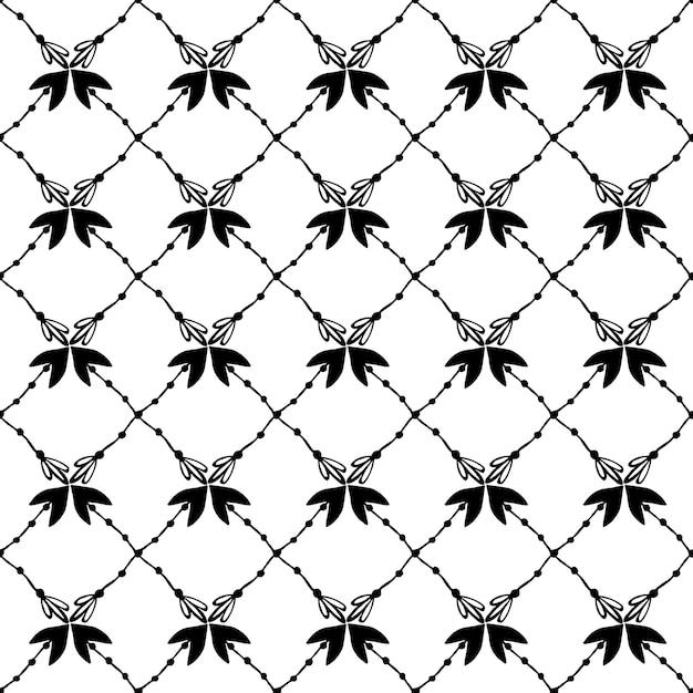 手描きの花柄のテクスチャ。エレガントなシームレスなパターンとベクトルの背景のデザイン。 Premiumベクター