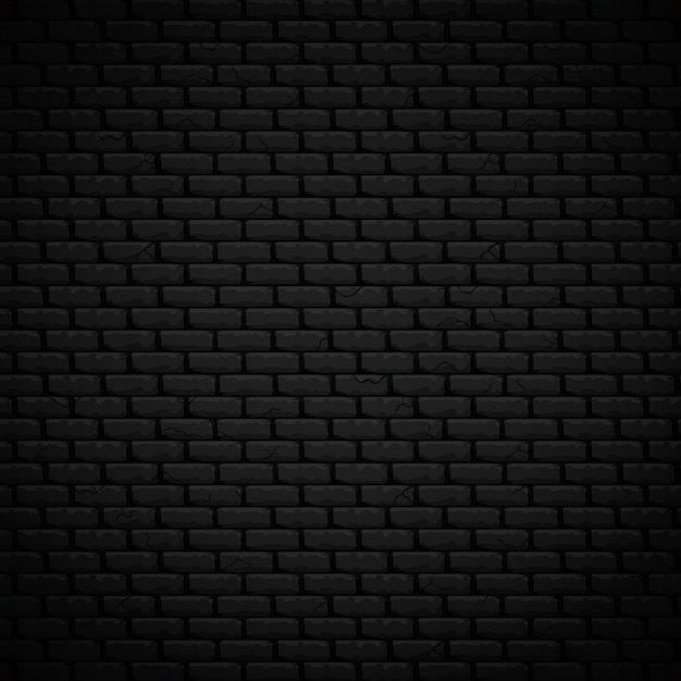 Textured background realistic dark bricklaying wall vector illustration Premium Vector