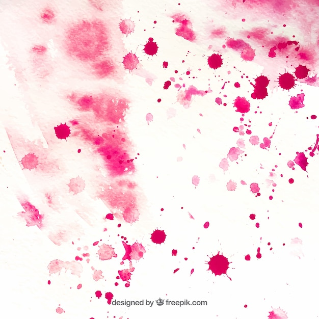 Textured paper with pink watercolor\ stains