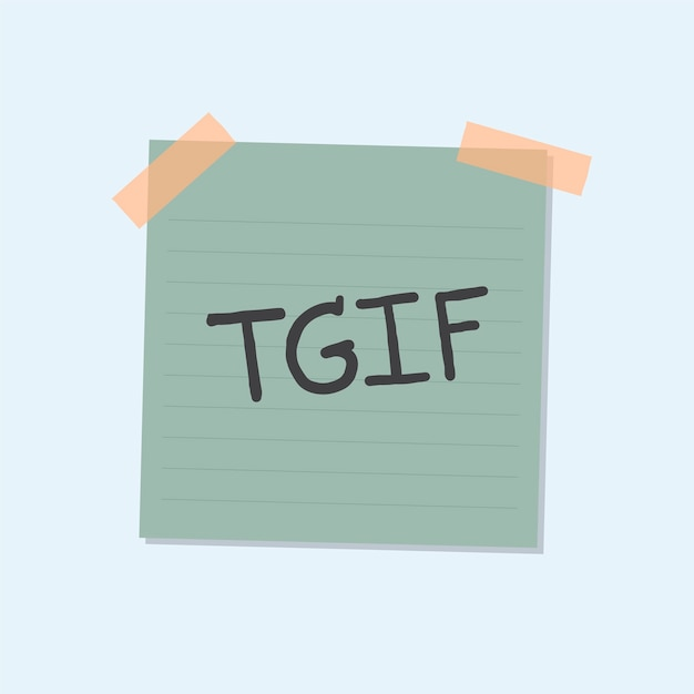 Tgif note illustration Free Vector