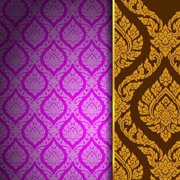 Thai pattern background vintage Premium Vector