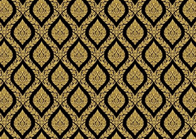 Thai pattern vintage gold vector illustrator Premium Vector