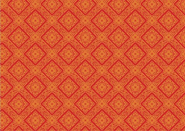Thai pattern vintage vector illustrator Premium Vector