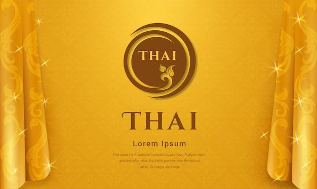 Thai traditional background concept. Premium Vector