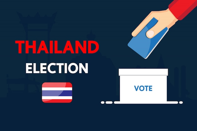 Thailand election vector design 2019. Premium Vector