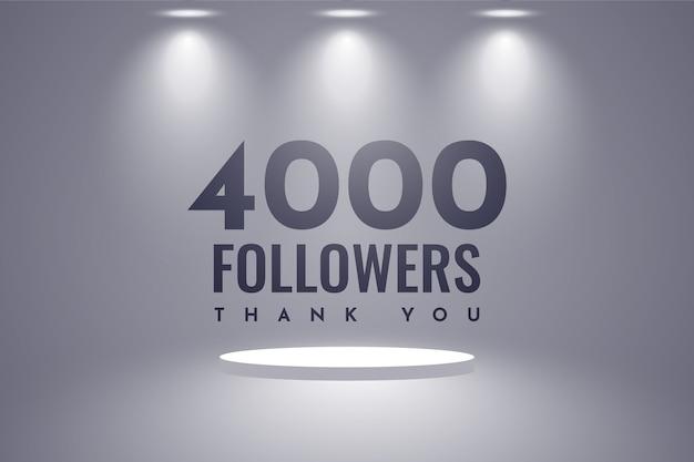 Спасибо 4000 подписчиков дизайн Premium векторы