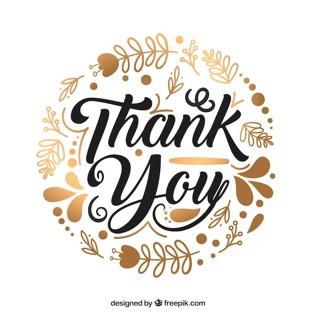 Thank you background with black lettering | Free Vector (626 x 626 Pixel)