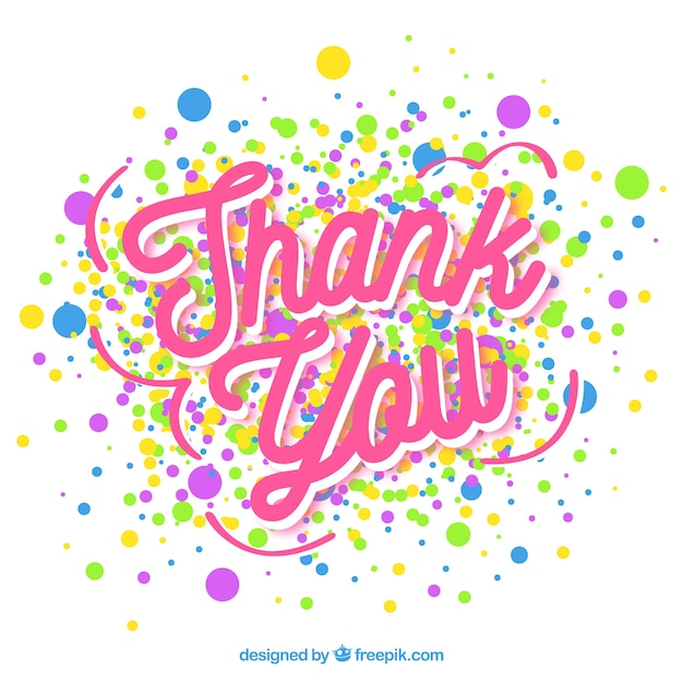 thank you background with confetti vector free download