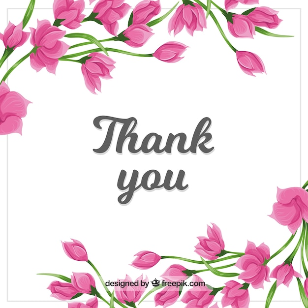 Thank you background with pink flowers vector free download thank you background with pink flowers free vector m4hsunfo Gallery