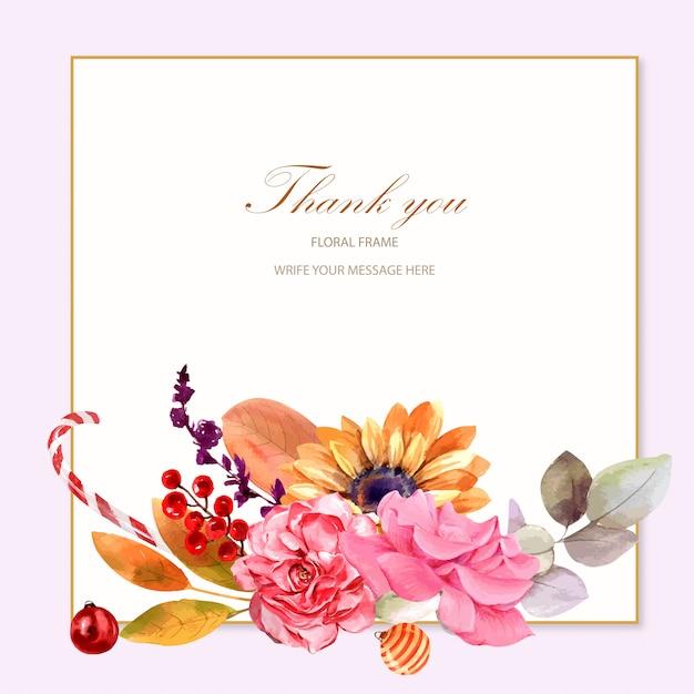 thank you card design template vector  premium download