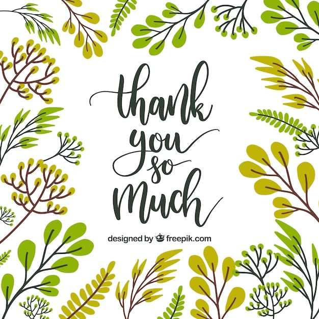 Thank you card floral design vector free download thank you card floral design free vector altavistaventures Choice Image