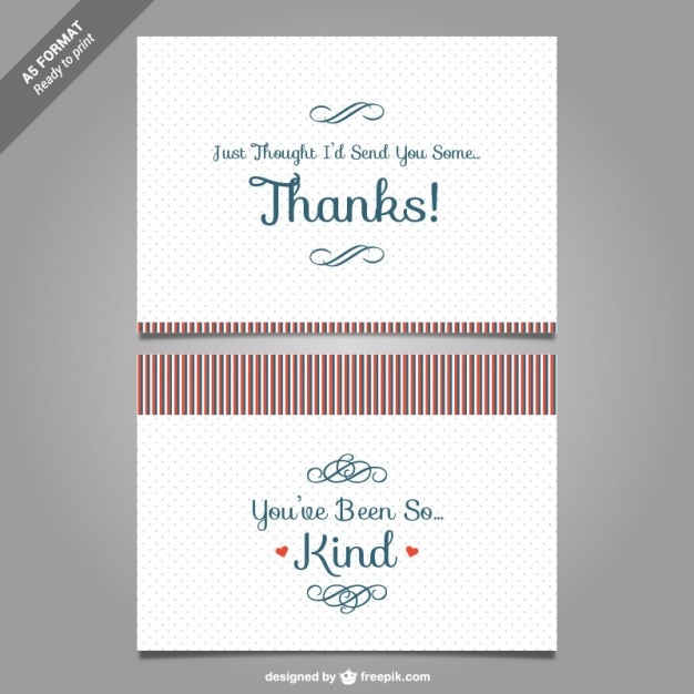thank you card template vector free vector