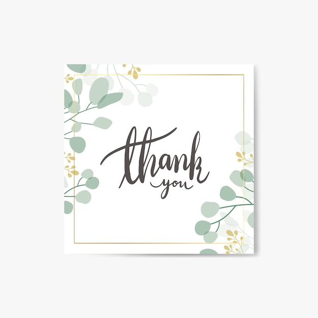 Thank you card Free Vector