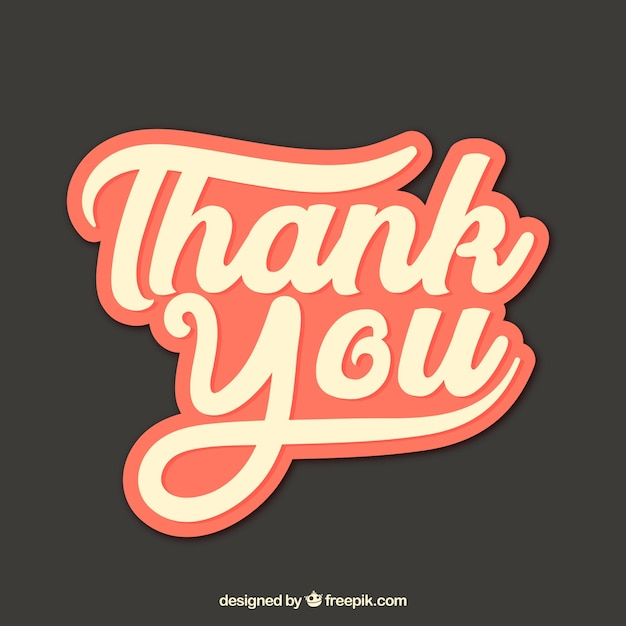 Thank you composition with vintage style Free Vector